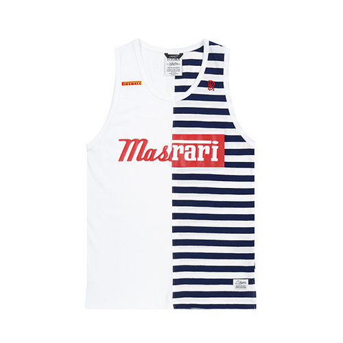 RACING SLEEVELESS NAVY