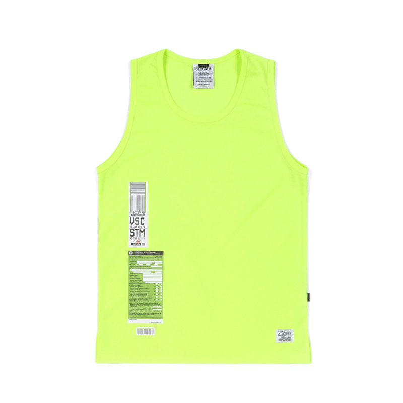 IMMIGRATION COOLON SLEEVELESS NEON GREENSOLD OUT