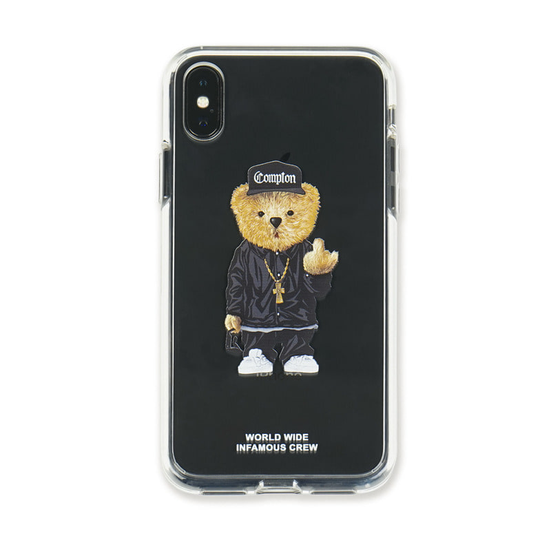 PHONE CASE COMPTON BEAR CLEAR iPHONE Xs / Xs MAX / XrSOLD OUT