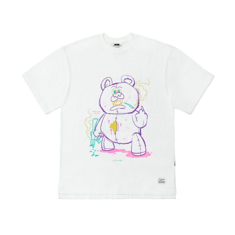 BEAR GANG OVERSIZED T-SHIRTS WHITESOLD OUT