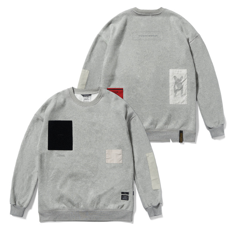 DV TECH OVERSIZED HEAVY SWEAT CREWNECK GREYSOLD OUT
