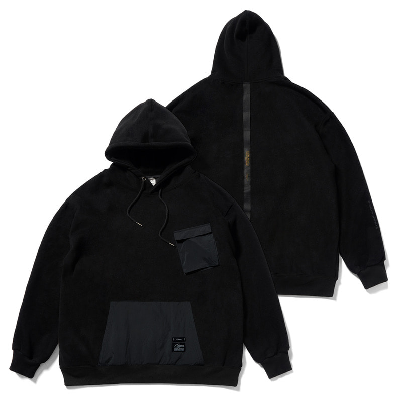 20 TECH OVERSIZED HEAVY SWEAT HOODIE BLACK